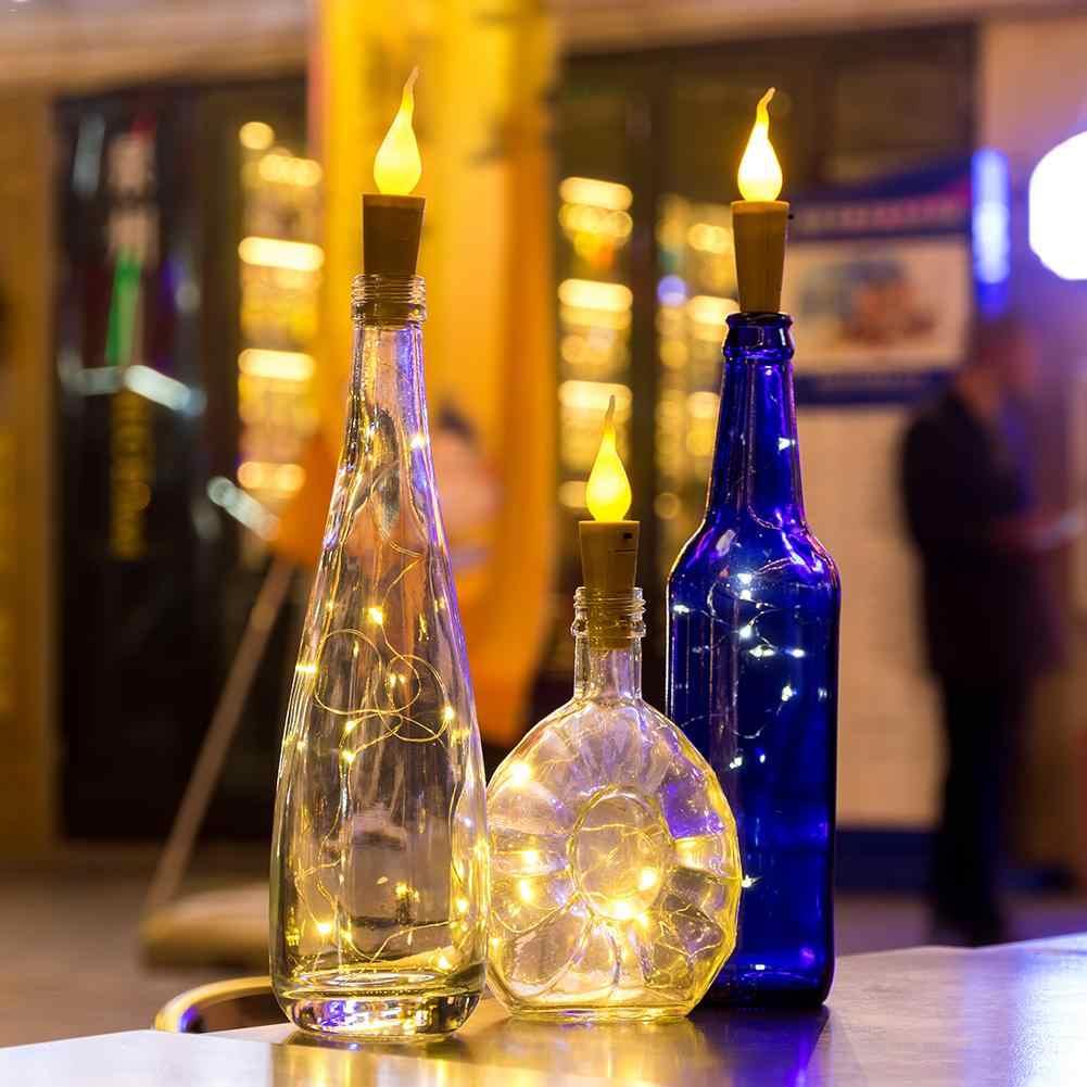 10PCS 20 LED Candela Luce Della Stringa Bottiglia di Vino Mini Fiamma Sughero Lampada Fata Filo di Rame Luce di Natale Vacanze di Casa bar di San Valentino