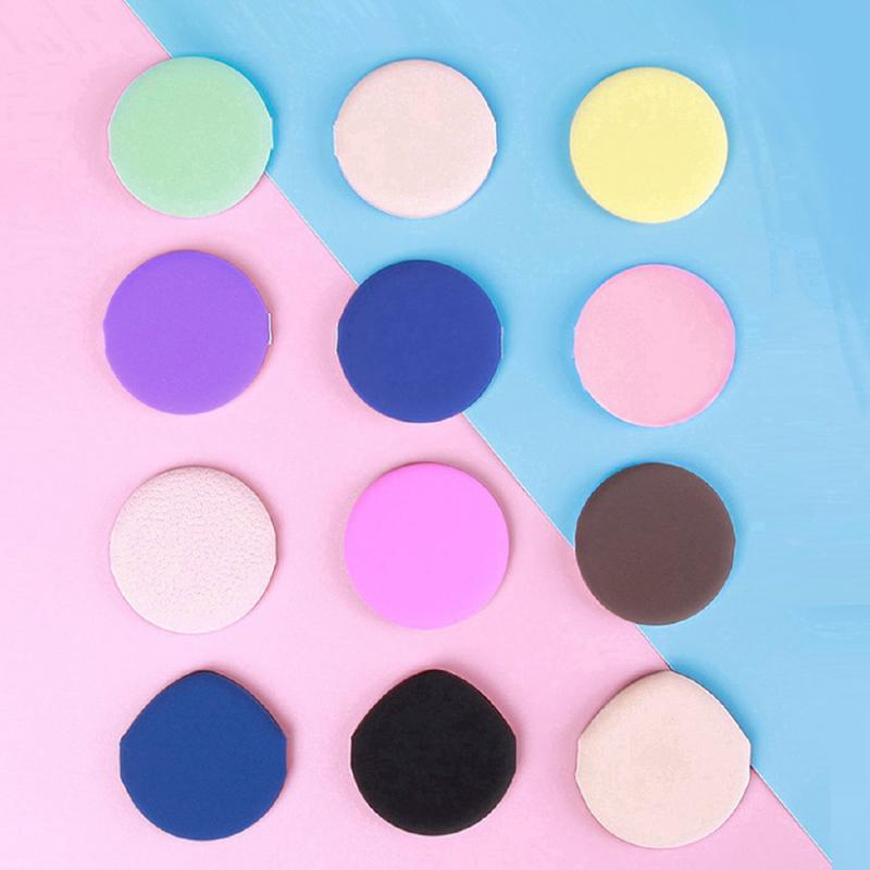 Wet Dry Use Puff Random Color Round Shape Portable BB Cream Powder Cosmetic Puff Soft Smooth Traceless Non-latex Makeup Tools