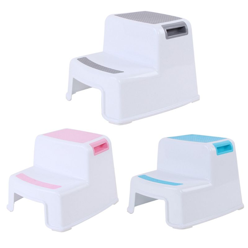 Multifunctional Children Toilet Pedestal Stool Bathroom Plastic Thick Step Stool X5XE