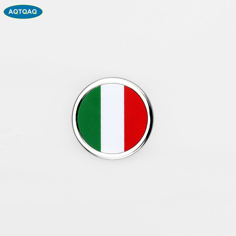 1 Pcs Auto Accessori Esterni Italia Bandiera Autoadesivo del Metallo MINI Rotonda Emblema Per Toyota Rover Dodge Skoda
