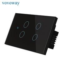 Vovoway Mỹ Ứng Nhà Dán Tường Đèn Kết Nối Mạng Wifi Ứng Dụng Điện Thoại Di Động Điều Khiển Từ Xa, 4 Băng Đảng AC110V 220V