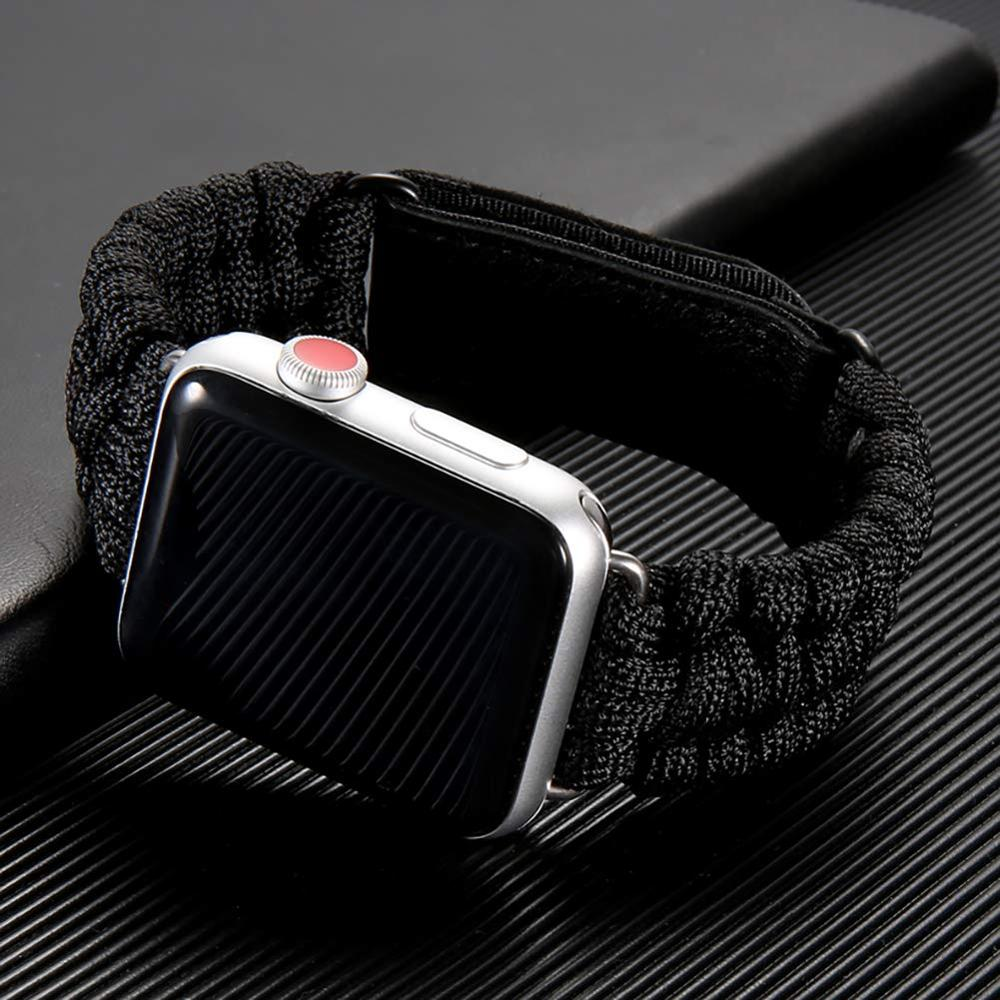 Survival Rope Strap For Apple Watch 5 Band 44 Mm 40mm IWatch Band 42mm 38mm Outdoors Leather Clasp Bracelet Apple Watch 5 4 3 2