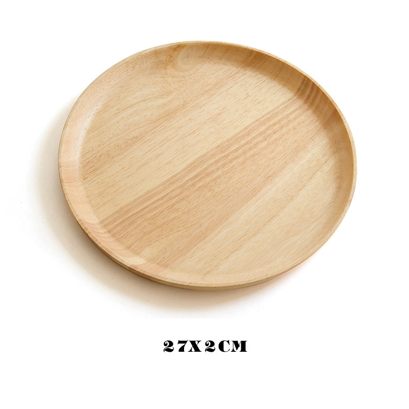 Wooden Round Storage Tray Plate Tea Food Dishe Drink Platter Food Plate Dinner Beef Steak Fruit Snack Tray Home Kitchen Decor - Цвет: 21