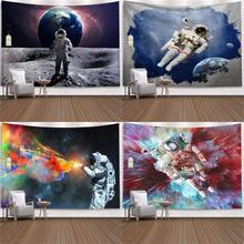Tapestry Space-Astronaut Carpet-Pad Yoga-Mat Beach-Blanket Art-Wall Rectangular Digital-Printing