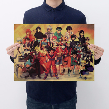 Kraft Classic Japanese Anime Character Collection Retro Poster Wall Sticker Decorative Painting