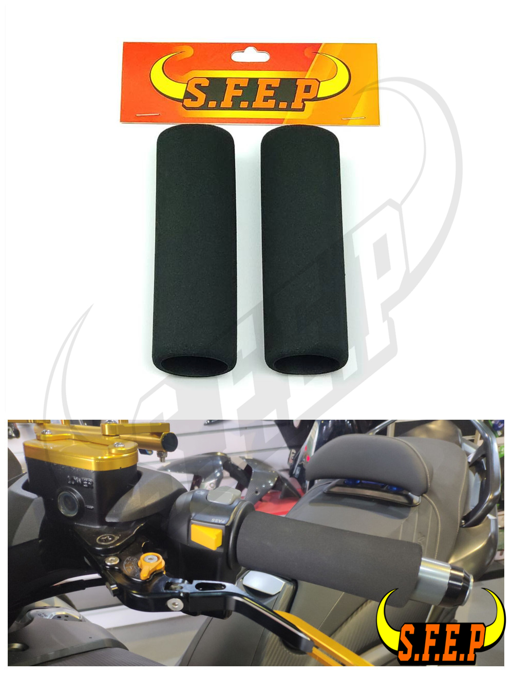 Universal Foam Anit-Vibration Motorcycle Comfort Grip Covers For BMW Kawasaki Honda KTM Yamaha Suzuki Harley Ducati Aprilia