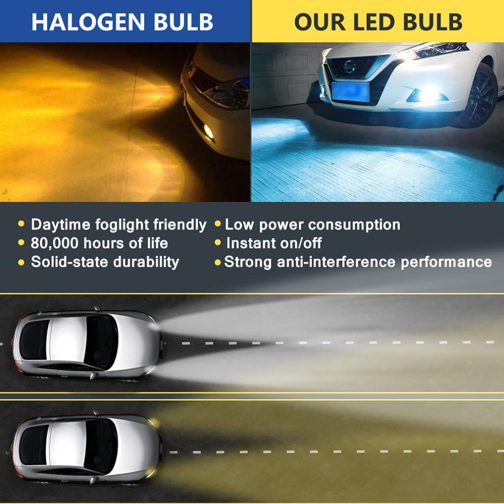 2 stücke H8 H11 9005 9006 12V 100W 6000K Weiß LED Auto Nebel Licht Lampen Hervorhebung Automobil LED Scheinwerfer Auto Nebel Lampe