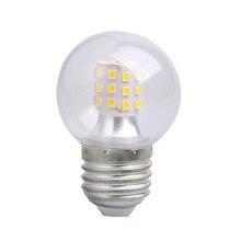 led light lamp bulb e27 screw three-color dimming transparent mini led bulb 5w 7w magic bean light source