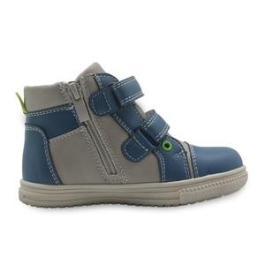 Image 5 - Обувь Apakowa для мальчиков, детская обувь из искусственной кожи на молнии, модные детские ботильоны с заплатками, демисезонные ботинки, европейские размеры 22 27