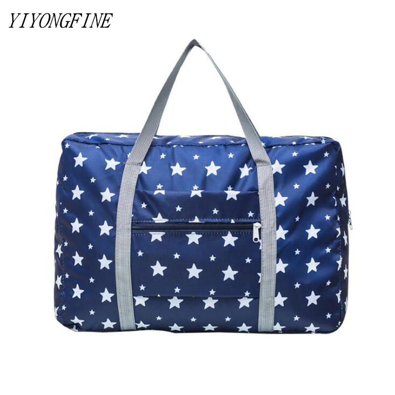 Printed Travel Bag For Women Large Capacity Storage Bag For Travel Clothing Toiletries Weekend Bag Luggage Bags Travels Fold Bag