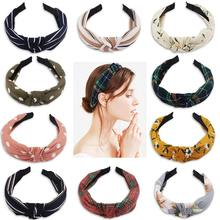цены 10 Pcs Cocider Knotted Headbands for Women Chiffon Hair Hoop Wide Headbands for Women Hard Hairbands Hair Bands Hair Accessories