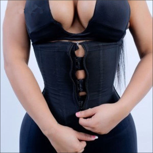 2019 Women Corset Body Shaper Waist Trainer Underbust Slim Cincher Zipper Trainer Cincher Zip Girdle Belt Solid Shaper Plus Size