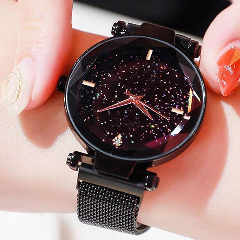 Watch Women Watches TOP Brand Luxury Starry Sky Fashion Women Quartz Watches Clock Ladies Woman Quartz Wrist Watches For Women