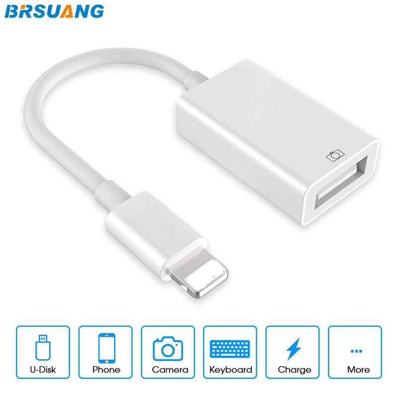 BRSUANG USB OTG Converter Electric Piano Keyboard For Lightning To USB Camera Adapter For IPhone 11Pro Max IPad Support IOS 13