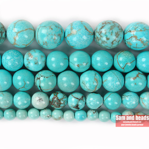 Wholesale Natural Mongolia Turquoises Round loose Beads 15