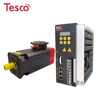 цена на low cost 2.2kw 14Nm single or 3phase 220VAC spindle servo motor+ matched servo driver for cnc