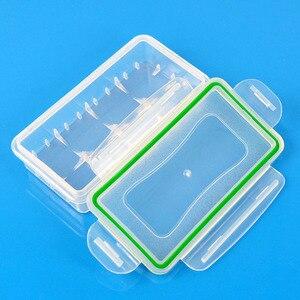 Image 1 - 1PC פלסטיק סוללה מקרה מחזיק תיבת אחסון עבור 2*18650 CR123A 4*16340 סוללה מיכל תיק מקרה ארגונית תיבת מקרה