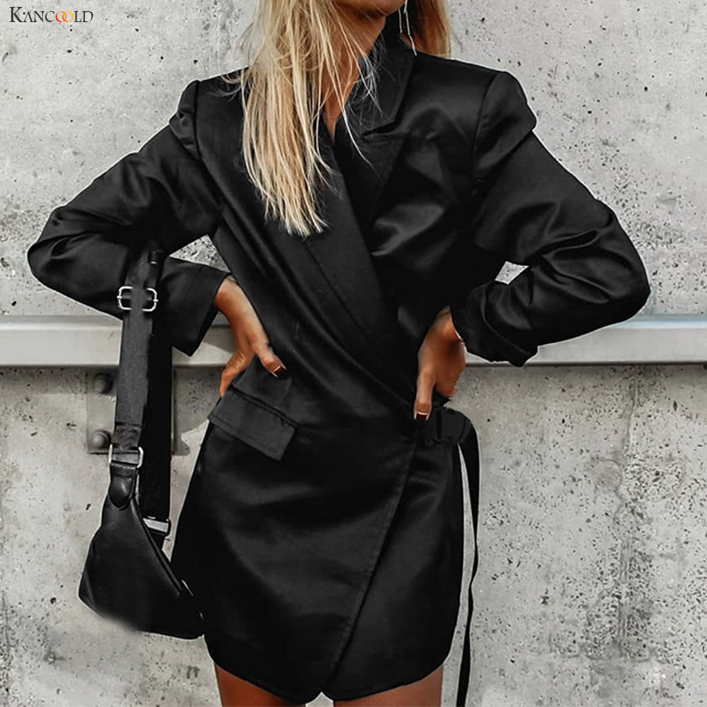 KANCOOLD Coats Winter Fashion Open Front Fit Office Cardigan Coat School Bag Buckle Pockets New Coats And Jackets Women 2019Oct9