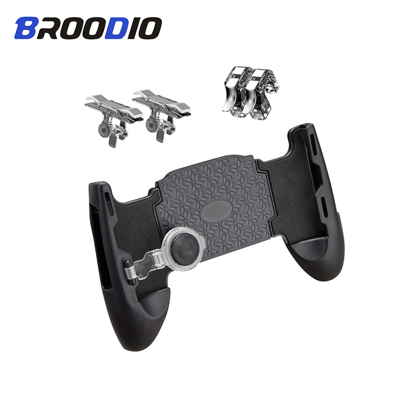 PUBG Mobile Controller Free Fire L1 R1 Triggers Gamepad 5 In 1 PUBG Mobile Game Pad Grip L1R1 Joystick For IPhone Android Phone