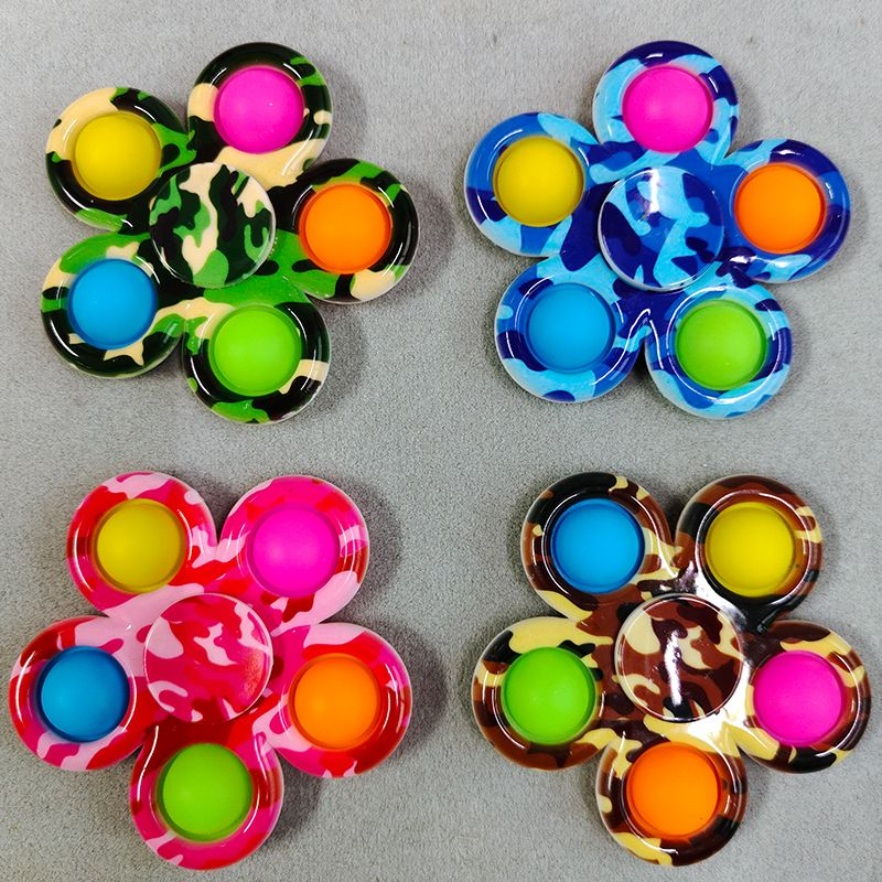 New Simple Dimple Popit Fidget Toys Plus 5 Sides Finger Play Game Anti Stress Fidget Spinner Pop It Colorful img2