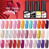 KOSKOE-Juego de 6 uds. De esmalte de uñas de Gel de colores, 120 colores, purpurina, lentejuelas, Gel Led UV, Kit de barniz para uñas de Gel para decoración de uñas