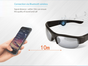 Image 5 - أحدث 6B سماعة رأس بخاصية البلوتوث النظارات الشمسية الموسيقى ميكروفون العظام التوصيل نظارات سماعة مع 3 عدسات ملونة مختلفة هدية