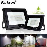 Luz LED de inundación para iluminación exterior, lámpara de pared de calle impermeable IP66, proyector de jardín, 220V, 30W, 50W, 100W