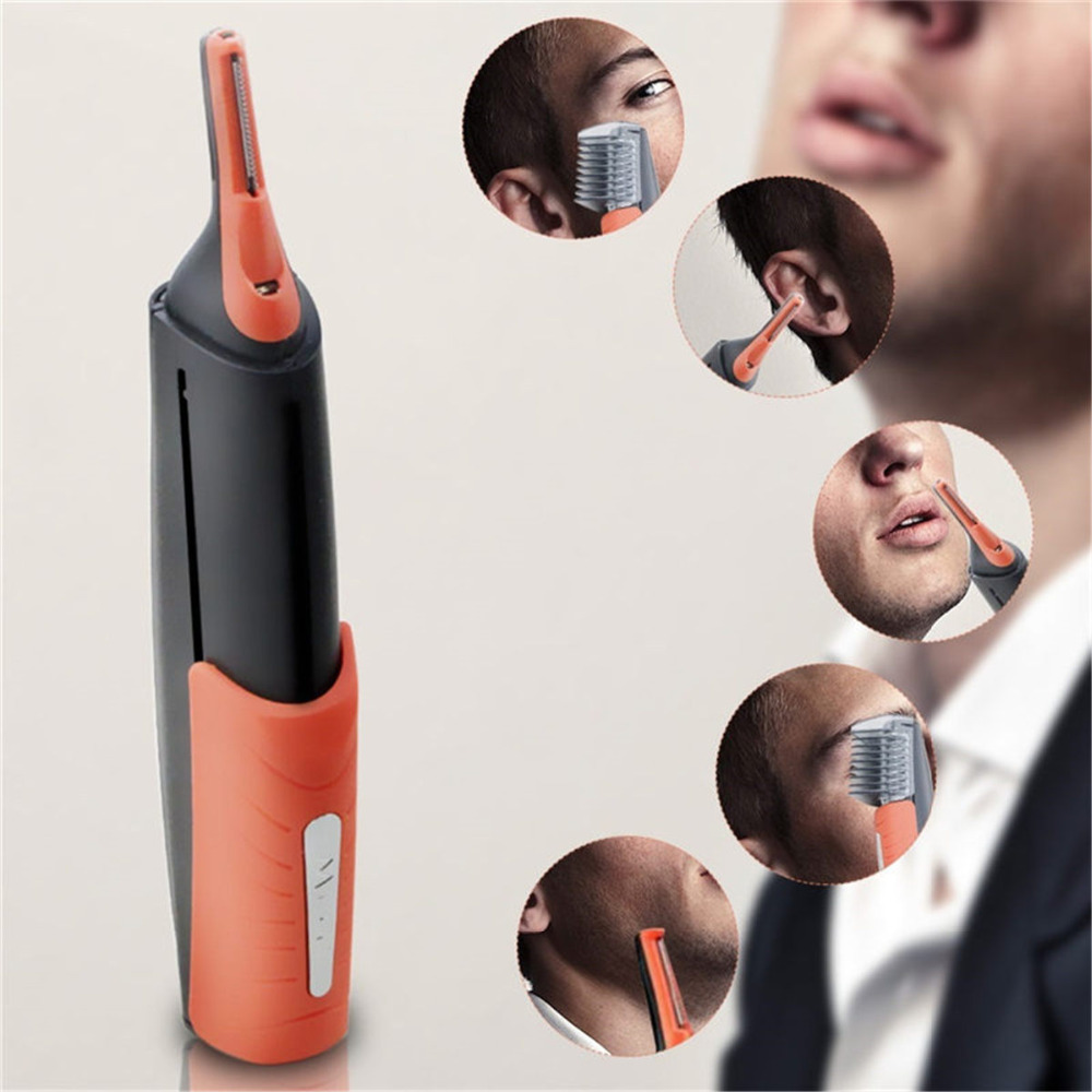 Nose Hair Trimmer Clipper Electric Beard Eyebrow Shaving Shaver Remover Device Battery Powered Men Women Personal Face Care Tool
