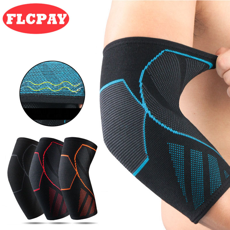 1 Pcs Elastic Breathable Sport Elbow Pads Fitness Basketball Badminton Tennis Elbow Support Brace Joint Protector Free Shipping