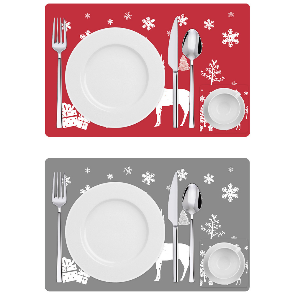 6 Sets of Matching Christmas Placemats and Coasters 9