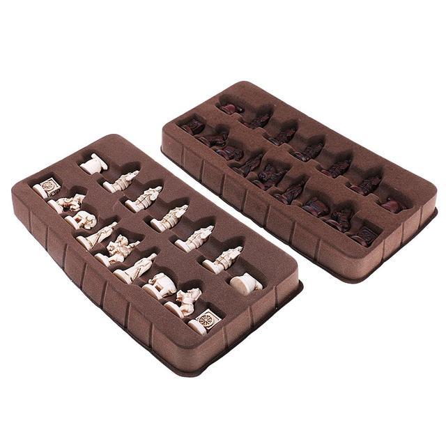 Jeu de xianqi fantaisie avec figurines à la place des pièces : style armée de terre cuite 3
