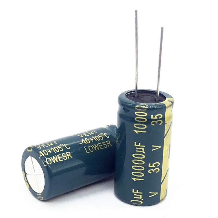 6pcs/lot High Frequency Low Impedance 35V 10000UF 18*35MM Aluminum Electrolytic Capacitor 10000uf 35v 35V10000UF 20%