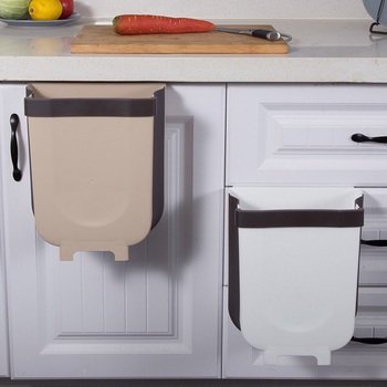8L Car Large Capacity Waste Bin Dorm Drawer Collapsible Kitchen Cabinet Door Bathroom Hanging Trash Can Small Bedroom Garbage