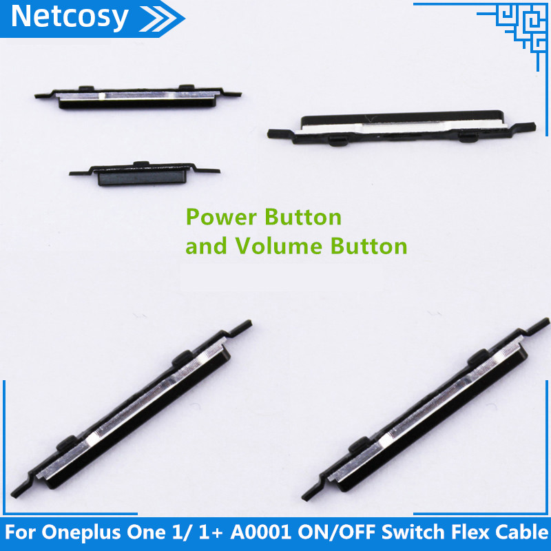 Netcosy  For Oneplus One 1/ 1+ A0001 Flex Cable Ribbon Repair Parts Replacement On/Off Switch Power Volume Adjustment Button
