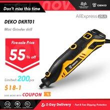다이나믹 에어쿠션 데코 DKRT01 220V 가변 속도 미니 그라인더 전기 절단 연마 드릴링 로터리 전동 공구 액세서리