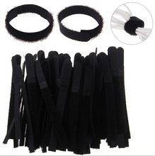 Reusable Strips Cable Rope Wire Organizer Reusable Black Organizar Cables Securing Wire Organizer Cord Rope Holder Straps Strips(China)