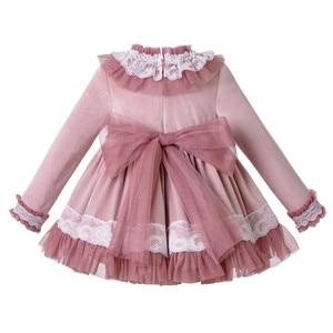 Image 4 - Pettigirl Lace Hem Baby Clothing Set With Velvet Bonnet  Clothes Toddler Boutique Outfit G DMCS206 A348