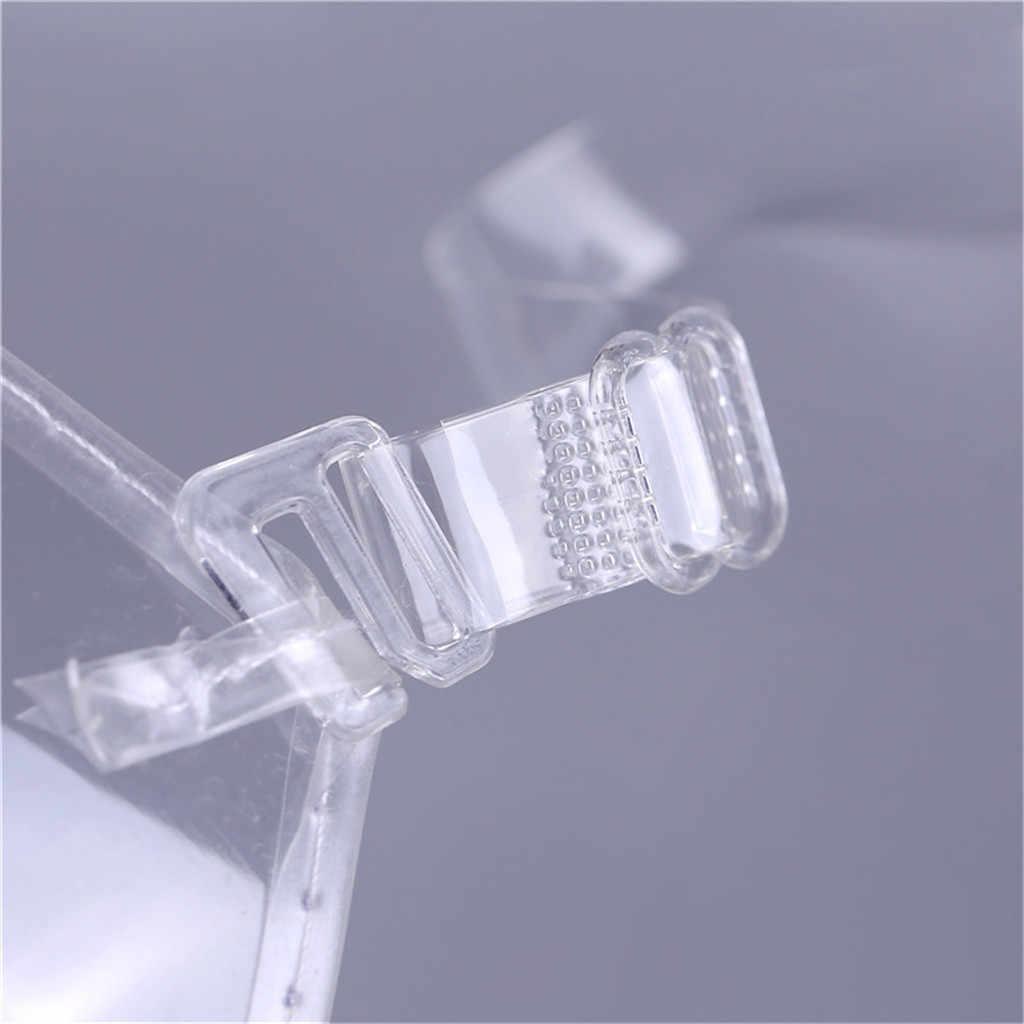 プラスサイズ女性のセクシーな透明ブラジャー使い捨て不可視ブラジャープラスチック下着プッシュアップブラジャーベストワイヤレス BH 51 *