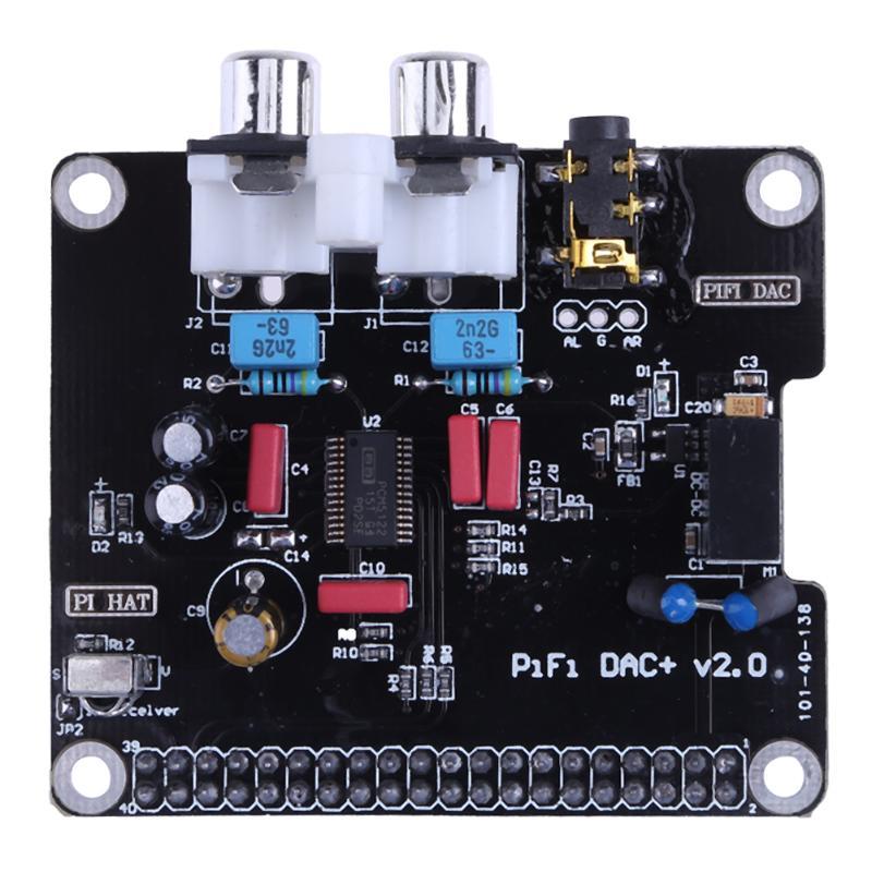 Pcm5122 módulo de placa de som áudio dac alta fidelidade i2s + indicador led para raspberry pi 2 b