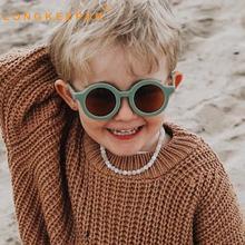 Kids Sunglasses Girls Vintage Infantil Children Round Gafas Longkeeper Colorful Boys