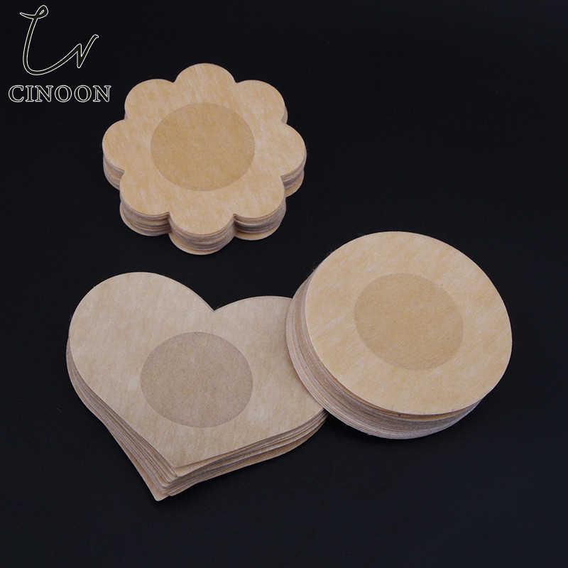 CINOON wielokrotnego użytku kobiet płatki piersi osłona na sutek niewidoczny płatek klej bez ramiączek biustonosz bez pleców Pad skóry na imprezę