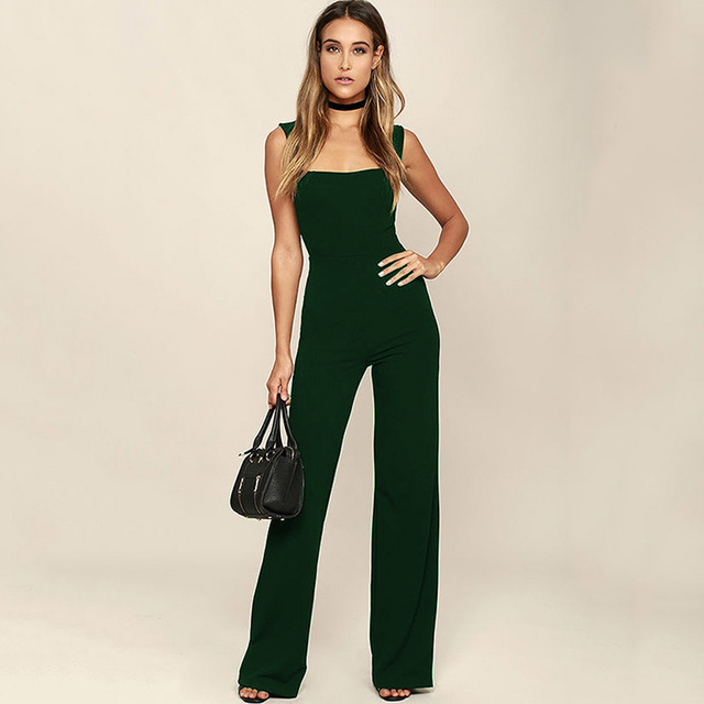 Black White Flare Trouser Casual Workout Jumpsuit