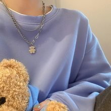 Necklace for Women Geometric Multilayer Chain Cute Bear Necklace Fashion Clavicle Chain Jewelry Accessories Wholesale