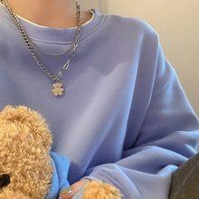 Halskette für Frauen Geometrische Multilayer Kette Nette Bär Halskette Mode Schlüsselbein Kette Schmuck Zubehör Großhandel