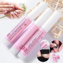 10 pçs prego bond cola forte adesivo para acrílico unha ponta falso manicure suprimentos wh998