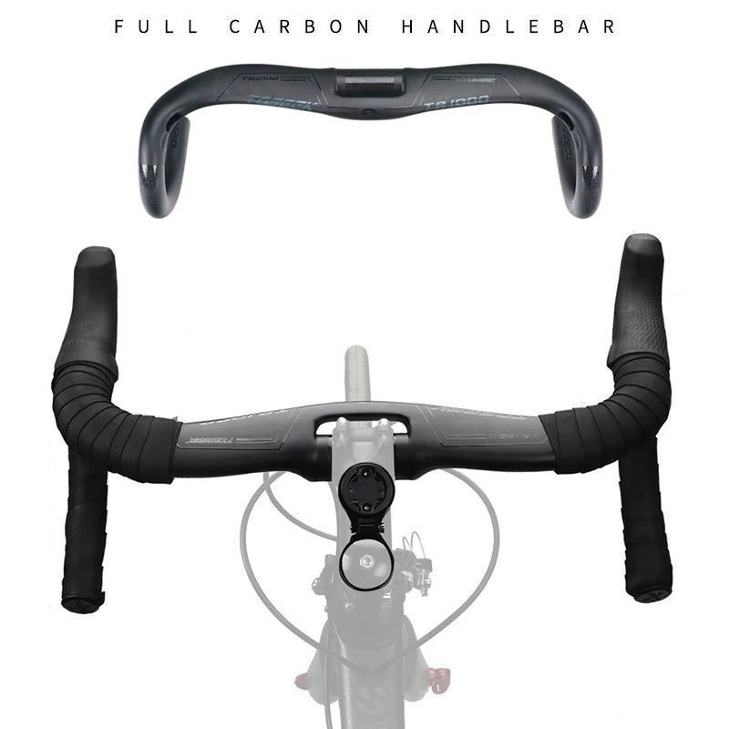 TOSEEK Carbon High Quality MTB Handlebar Bike Drop Bar Aero Bar Set 31.8*440mm