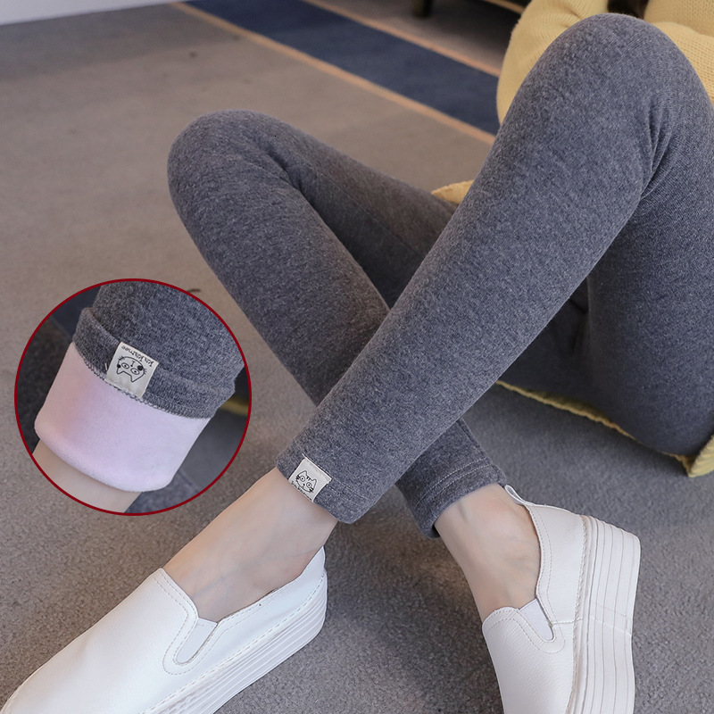 Plus Thick Velvet Pure Color Maternity Women Leggings Soft Maternity Clothings Winter Warm Trousers Breathe Maternity Clothes