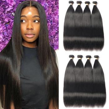 Sapphire Hair 5 10 wiązki oferty brazylijskie pasma prostych włosów 100 ludzkie włosy pasma włosów typu Remy włosy w naturalnym kolorze rozszerzenie tanie i dobre opinie Brazylijski włosy Proste = 10 Brazilian Hair Weave Bundles Brazilian Hair Bundles Sew-w Brazilian Straight Hair Bundles Straight Human Hair Bundles
