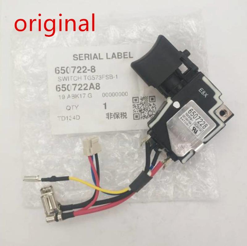 Original Switch For Makita 6507228 650722-8 6502414 6507032 TD134DX2 DTD134 BTD134 BTD146 DTD146 BTD146Z BTD134Z TD134D Switch