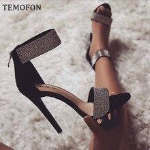 TEMOFON women shoes heels sexy stiletto high heel s